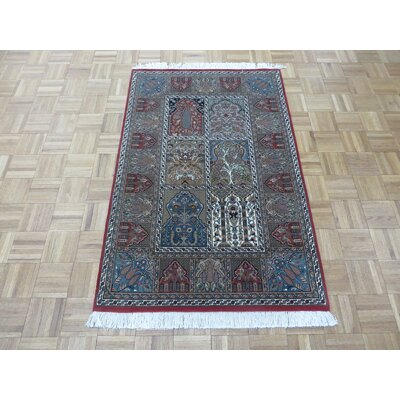 One-of-a-Kind Rakowski Hand-Knotted Wool Red/Gray Area Rug