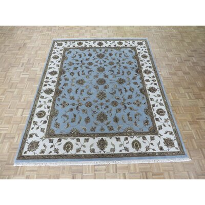 One-of-a-Kind Rhyne Hand-Knotted Wool Light Blue Area Rug