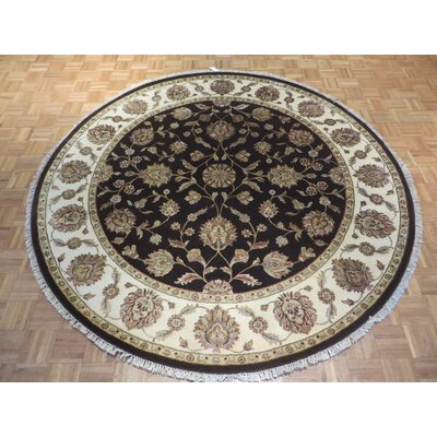 One-of-a-Kind Rhyne Hand-Knotted Chocolate Brown Area Rug
