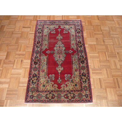 One-of-a-Kind Rainbolt Antique Hand-Knotted Wool Red Area Rug