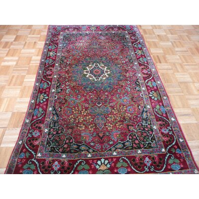 One-of-a-Kind Rainbolt Antique Hand-Knotted Red Area Rug Rug Size: Rectangle 42 x 610