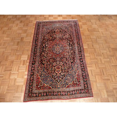 One-of-a-Kind Padro Antique Isphahan Hand-Knotted Wool Red/White Area Rug