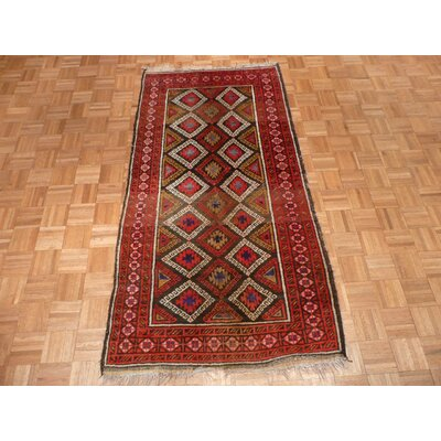 One-of-a-Kind Padro Antique Hand-Knotted Wool Brown Area Rug