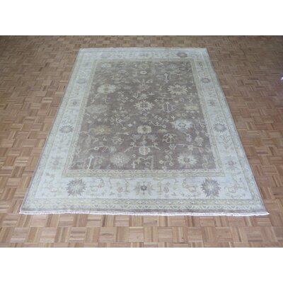 One-of-a-Kind Josephson Oushak Hand-Knotted Taupe Area Rug