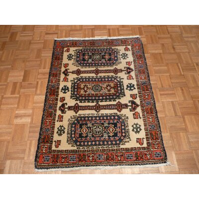 One-of-a-Kind Pagano Hand-Knotted Wool Ivory Area Rug