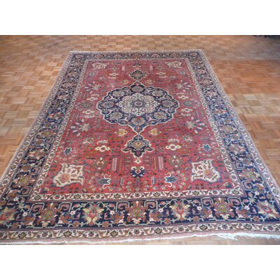 One-of-a-Kind Padro Antique Mahal Hand-Knotted Orange Area Rug