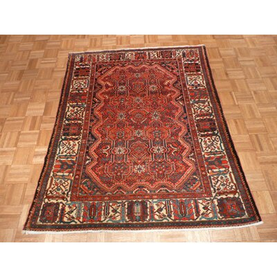 One-of-a-Kind Rakestraw Antique Hand-Knotted Wool Red Area Rug