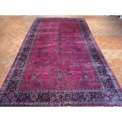 One-of-a-Kind Pagano Antique Hand-Knotted Wool Red Area Rug