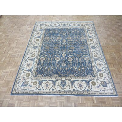 One-of-a-Kind Josephson Hand-Knotted Wool Blue Area Rug