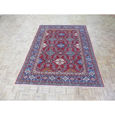 One-of-a-Kind Padula Super Shirvan Hand-Knotted Wool Red Area Rug