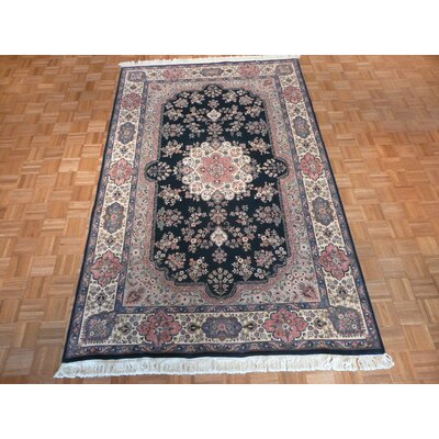 One-of-a-Kind Rhyne Hand-Knotted Wool Dark Green Area Rug