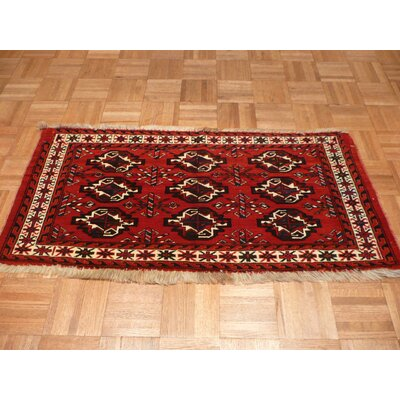 One-of-a-Kind Pellegrino Antique Bokara Hand-Knotted Wool Camel Area Rug