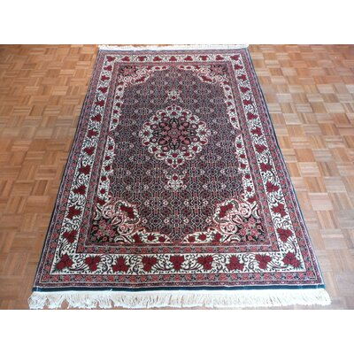One-of-a-Kind Rhyne Bijar Hand-Knotted Wool Red Area Rug