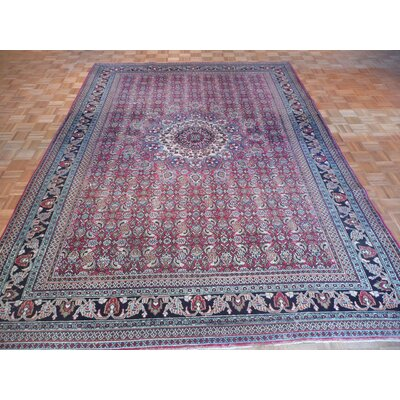 One-of-a-Kind Padro Antique Bidjar Hand-Knotted Wool Red Area Rug
