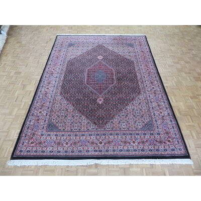 One-of-a-Kind Pellegrino Bijar Hand-Knotted Wool Black Area Rug