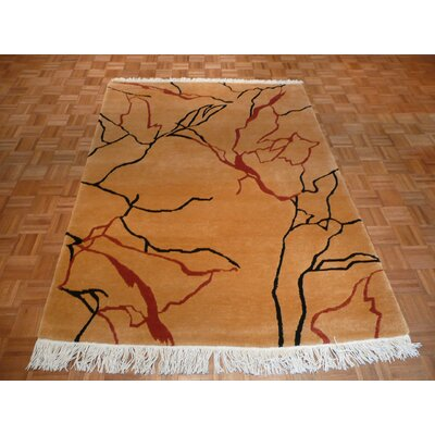 One-of-a-Kind Padang Sidempuan Marble Tufenkian Hand-Knotted Tan Area Rug