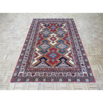 One-of-a-Kind Padula Super Shirvan Hand-Knotted Wool Red/Blue Area Rug