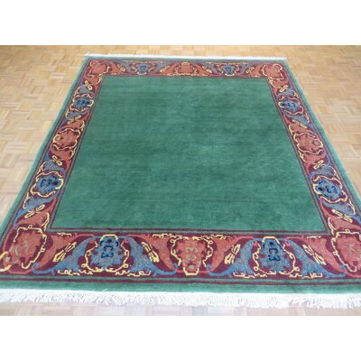 One-of-a-Kind Padang Sidempuan Tufenkian Hand-Knotted Wool Green Area Rug