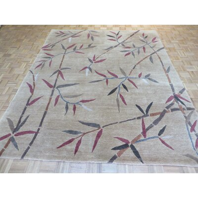 One-of-a-Kind Padang Sidempuan Hand-Knotted Wool Rust Tan Area Rug