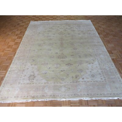 One-of-a-Kind Josephson Oushak Hand-Knotted Gold/Fine White Area Rug