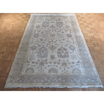 One-of-a-Kind Josephson Oushak Hand-Knotted Ivory/Gray Area Rug