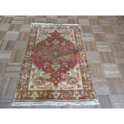 One-of-a-Kind Pellegrino Antiqued Serapi Heriz Hand-Knotted Rust Red Area Rug