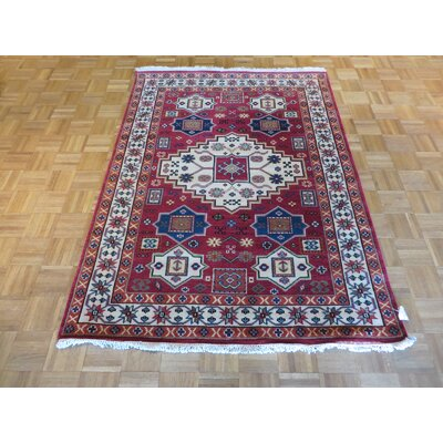 One-of-a-Kind Padula Hand-Knotted Wool Red Area Rug Rug Size: Rectangle 56 x 710