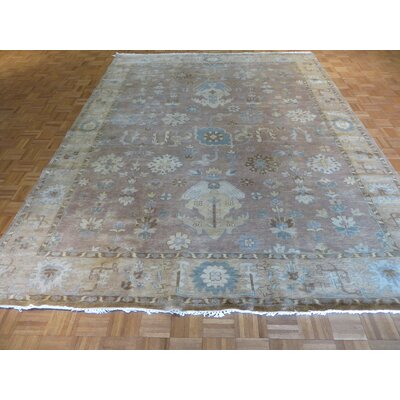 One-of-a-Kind Josephson Turkish Oushak Hand-Knotted Wool Lavender Area Rug