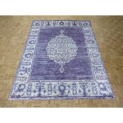 One-of-a-Kind Pellegrino Hand-Knotted Wool Purple Area Rug