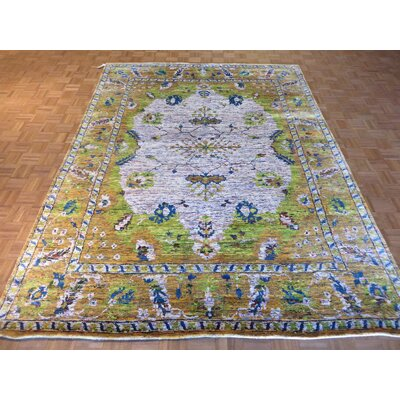 One-of-a-Kind Paez Hand-Knotted Wool Lavender Area Rug