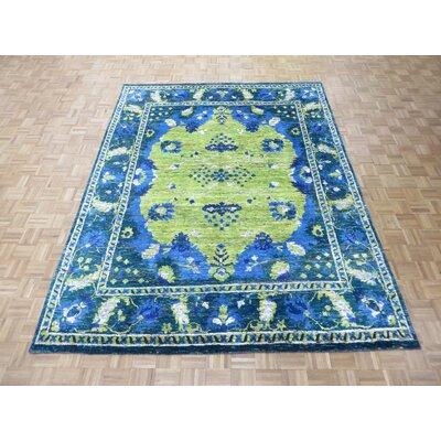 One-of-a-Kind Pellegrino Hand-Knotted Wool Yellow Area Rug