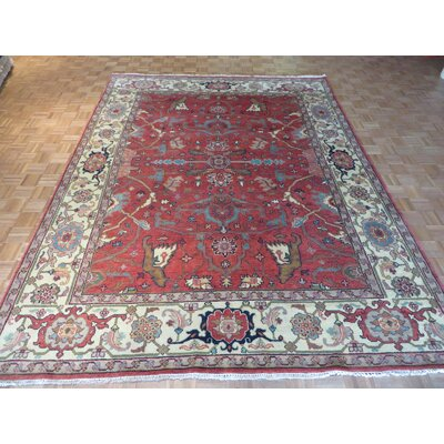One-of-a-Kind Josephson Serapi Heriz Hand-Knotted Wool Red Area Rug