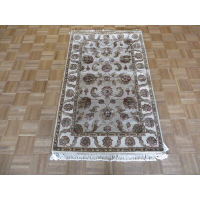 One-of-a-Kind Rhyne Hand-Knotted Wool Light Gray Area Rug