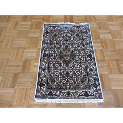 One-of-a-Kind Raiden Hand-Knotted Wool Ivory Area Rug
