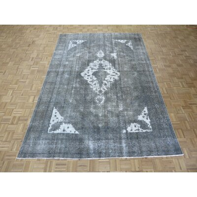 One-of-a-Kind Padro Hand-Knotted Gray Area Rug