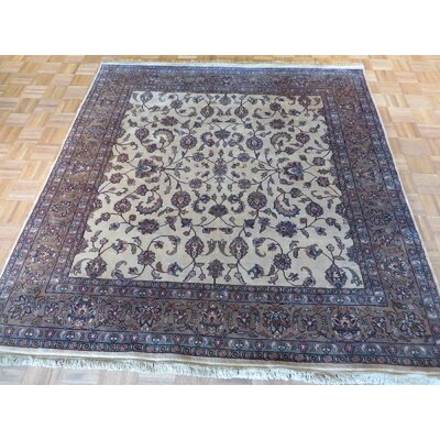 One-of-a-Kind Railey Hand-Knotted Wool Ivory Area Rug