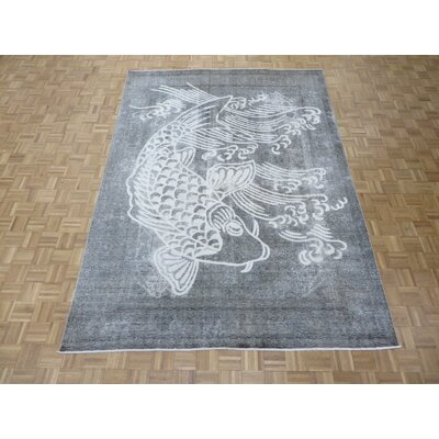 One-of-a-Kind Padro Hand-Knotted Wool Gray Area Rug