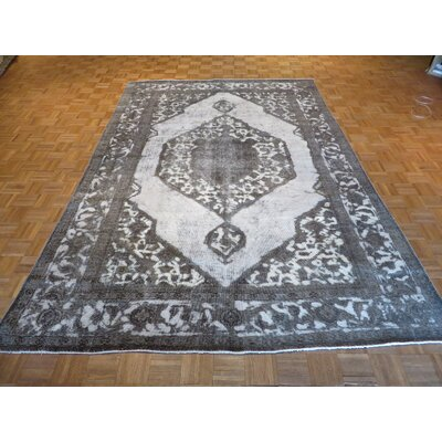 One-of-a-Kind Padro Hand-Knotted Ivory/Gray Area Rug