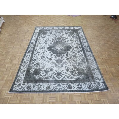One-of-a-Kind Padro Hand-Knotted Wool Gray/Silver Area Rug