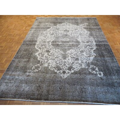 One-of-a-Kind Padro Hand-Knotted Wool Silver/Gray Area Rug