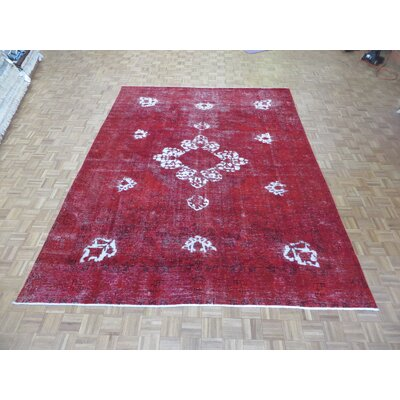 One-of-a-Kind Padro Hand-Knotted Wool Red Area Rug