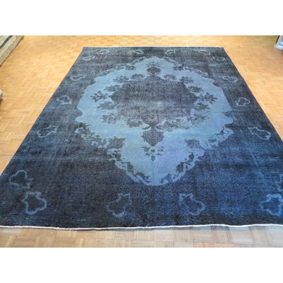 One-of-a-Kind Padro Hand-Knotted Wool Aqua/Blue Area Rug