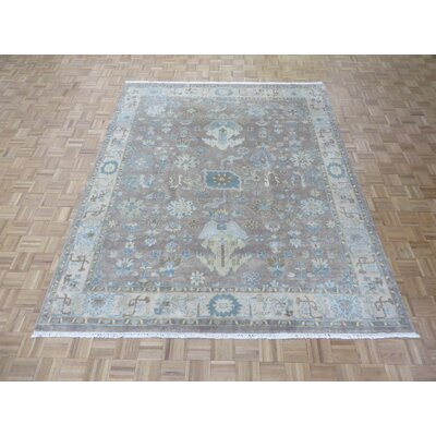 One-of-a-Kind Josephson Turkish Oushak Hand-Knotted Wool Lavender Area Rug Rug Size: Rectangle 12 x 15