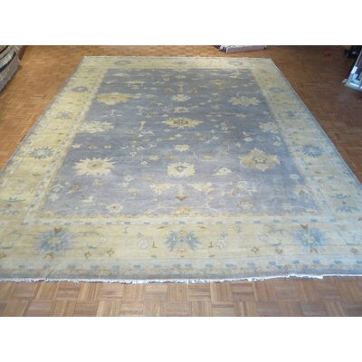 One-of-a-Kind Josephson Turkish Oushak Hand-Knotted Wool Blue Area Rug