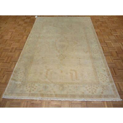 One-of-a-Kind Josephson Washed Out Turkish Oushak Hand-Knotted Wool Biege Area Rug