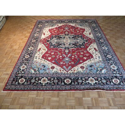 One-of-a-Kind Railsback Hand-Knotted Red Area Rug