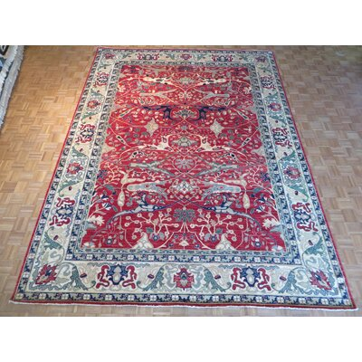 One-of-a-Kind Railsback Hand-Knotted Wool Red Area Rug