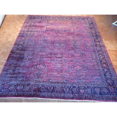 One-of-a-Kind Padro Sarouk Hand-Knotted Wool Red Area Rug