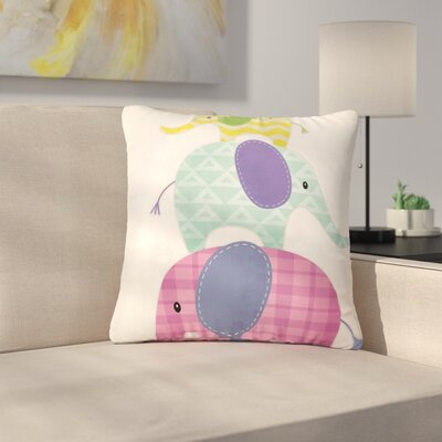 Noonday Design Balancing Act Kids Outdoor Throw Pillow Size: 18 H x 18 W x 5 D