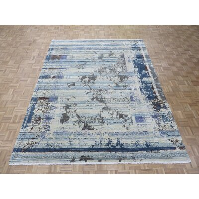One-of-a-Kind Pasuruan Modern Hand-Knotted Wool Yellow/Brown Area Rug